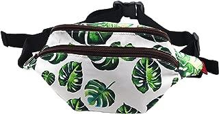 Tropical Leaves Gift Bags Fanny Pack Hip Waist Canvas Bum Belt Hip Pouch Bags
