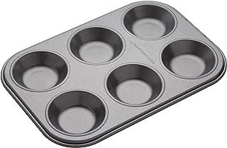 MasterClass 6 Hole Mince Pie Baking Tray with PFOA Free Non Stick, Robust 1mm Carbon Steel, 24 x 16cm Jam Tart Tin