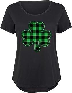 2d60175577c8d Shamrock Buffalo Plaid - St Patricks Day Easter Ladies Plus Size Scoop Neck  Tee