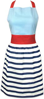 """DII Women's Adjustable Cooking Apron Dress with Extra Long Ties, 31 x 28"""", - Nautical Stripe"""