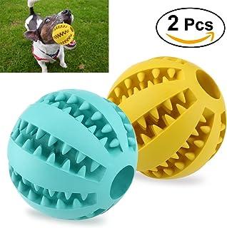 UEETEK 2pcs Juguete de goma masticar mascotas, Squeaker