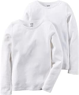 Girls' 2-Pack Cotton Longs sleeve Undershirts