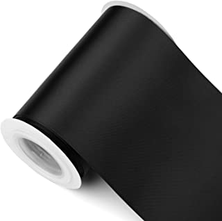 Humphrey's Craft Fabric Ribbon -Thick, Velvety Soft 4 Inch Wide Ribbon Non-Toxic Decorative Colorful Double Face Satin Ribbons for Crafts, Wedding Bouquet, Bridal Sashes-5 Yards/Roll (Black)