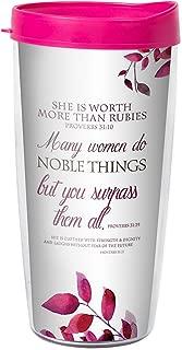 Proverbs 31 Woman Worth More than Rubies 22 Oz Tumbler Mug with Lid