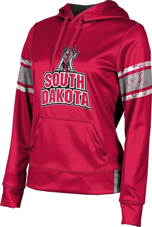 University of South Dakota Girls' Pullover Hoodie, School Spirit Sweatshirt (End Zone)