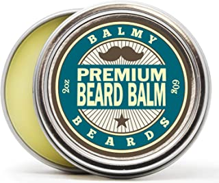 Best Beard Balm for Men - all Natural Organic Wax, Butter, Leave in Conditioner and Mustache Softener - Styles, Strengthens and aids Hair Growth