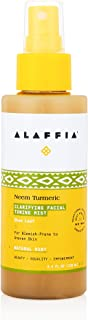 Alaffia Neem Turmeric Facial Mist, Helps Tone and Restore Protective the Skin's Protective Layers with Red Algae, Yarrow, ...