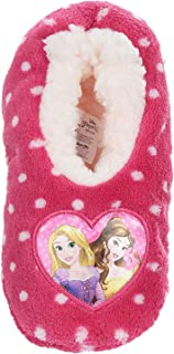 Chaussons d'intérieur polaires élastiques enfant fille Disney Princesses Raiponce et Belle Rose/blanc du 25 au 32 (EU, num...