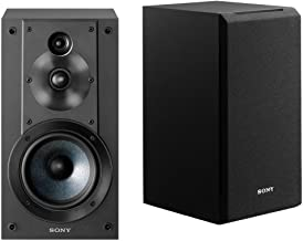 Sony SSCS5 3-Way 3-Driver Bookshelf Speaker System (Black) (Renewed)