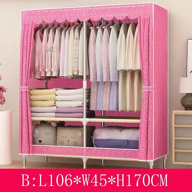 Clothes Closet Wardrobe Wardrobe Portable Clothes Closet Cupboard Combination Bedroom Furniture Storage 106  45  170 cm (color   B)