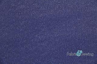 Denim Blue Denim Fabric 4 Way Stretch Cotton Polyester Spandex 9 Oz 58-60