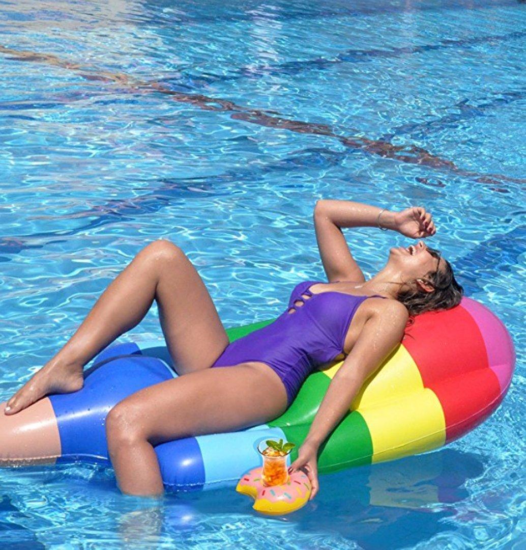 CRMM Flotador de piscina hinchable – perfecto para piscinas, riego ...