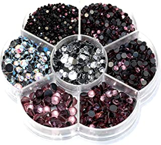 BLINGINBOX Hotfix Rhinestone 28 Colors to Choose 3000pcs Mixed Sizes(ss6-ss30) It. Amethyst DMC Hot Fix Glass Rhinestone