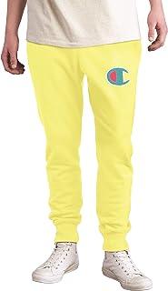 Champion Men`s Reverse Weave Pop Color Jocktag Chenille C Logo Jogger Pants