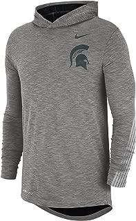 College (Michigan State) Hooded Long Sleeve Top Hoodie Tee Ao6622-063