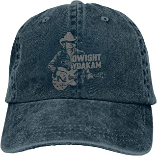 Yuanmeiju Dwight Yoakam Dad Hat Vintage Cotton Washed Cowboy Cap Adjustable Baseball Cap Black