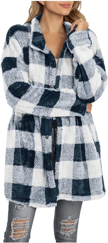 ANJUNIE Women Button Down Plush Superior Sleeve Coat Parka Atlanta Mall Cardigan Long