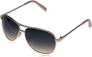 Women's J106 Metal Aviator Sunglasses with 100% UV Protection, 60 mm