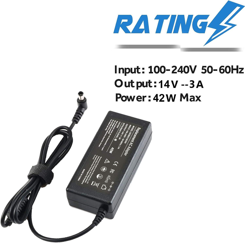 EBKK 14V AC/DC Adapter Power Cord for Samsung Monitor SyncMaster S22C300H S22A300B S20A350B S27D360H S24D590PL UN22F5000AF 15