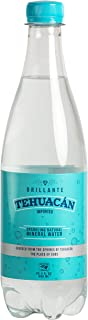 Tehuacán Brillante – Sparkling Water, Naturally Mineralized by Volcanic Rock! Unflavored Carbonated Water with Zero Calories, Zero Sugar & Mixes perfectly into your Drinks! (24 – 20oz Bottles)
