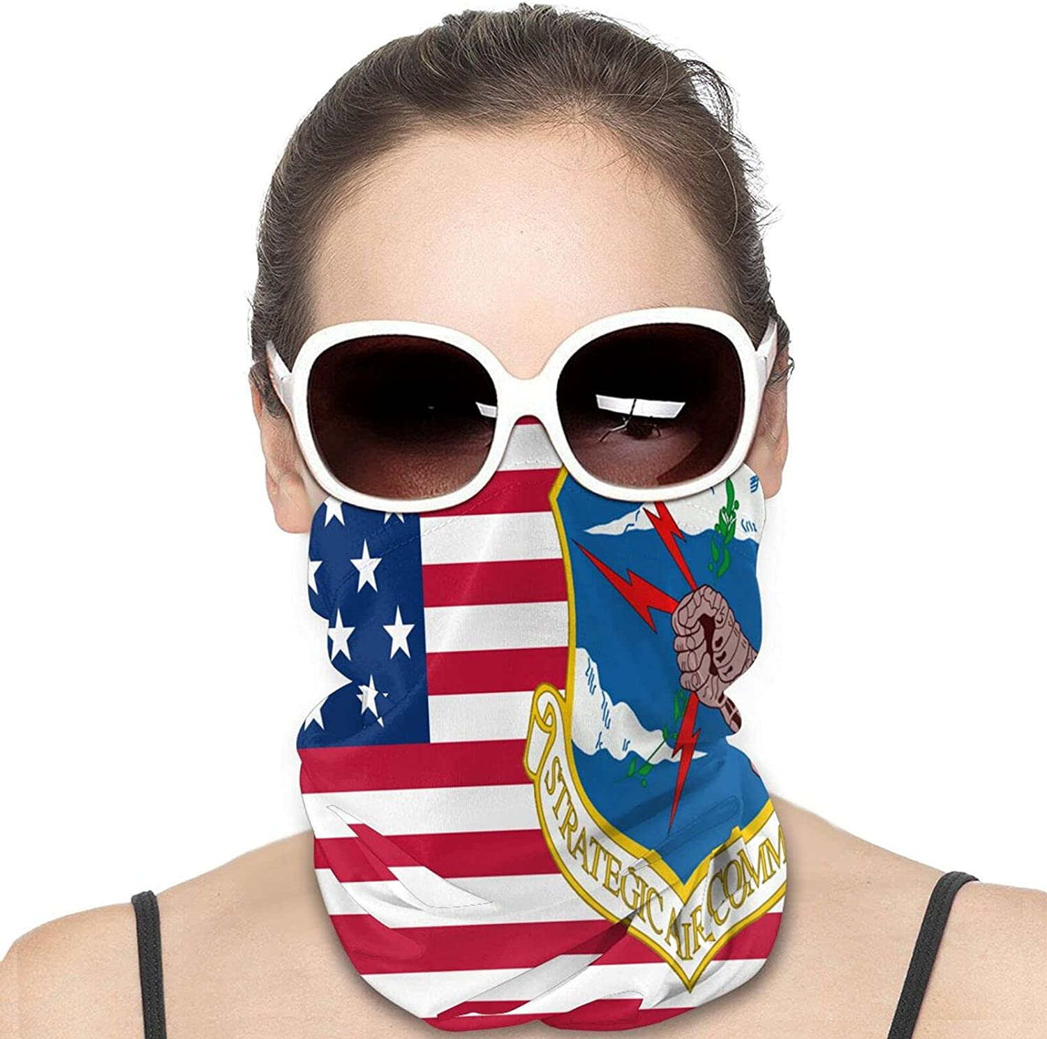 Blytheville Air Force Base Round Neck Gaiter Bandnas Face Cover Uv Protection Prevent bask in Ice Scarf Headbands Perfect for Motorcycle Cycling Running Festival Raves Outdoors
