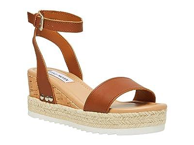 Steve Madden Jewell Wedge Sandal (Cognac Leather) Women
