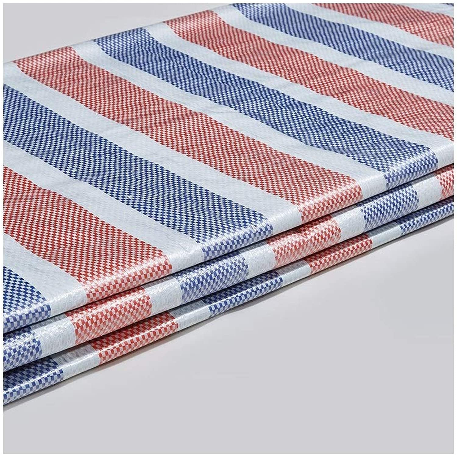 LQQGXL Thick color Strips Waterproof and Rainproof Plastic Cloth Awning Outdoor Shade dustproof and Windproof Waterproof Tarpaulin