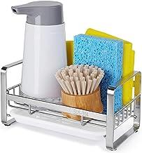 HULISEN Sponge Holder, Kitchen Sink Organizer, Sink Caddy, Sink Tray Drainer Rack, Brush Soap Holder with Removable Tray (...