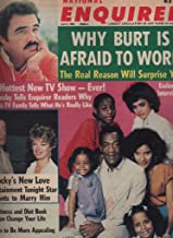 National Enquirer Newspaper, April 02 1985 Burt Reynolds,Sylvester Stalone,Bill Cosby,