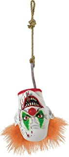 AMSCAN Creepy Carnival Hanging Clown Head Halloween Decorations and Props, For Indoor or Outdoor Use