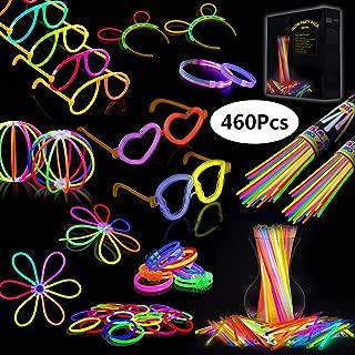 IREGRO Pulseras Luminosas 200pcs de Fiesta 20cm Colores con Conectores para Hacer Glow Sticks Pulseras, Collares, Kits para Crear Gafas Fiestas (200 pcs)