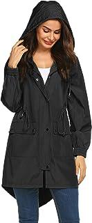LOMON Women Waterproof Lightweight Rain Jacket Active Outdoor Hooded Raincoat