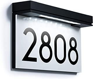 Placas de dirección para casa, funciona con energía solar, número de casa para exterior, señal de dirección LED, resistent...