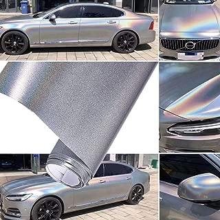 ATMOMO Laser Silver Chameleon Car Body Films Vinyl Car Wrap Sticker Color Change DIY Decals 1.52Mx20CM