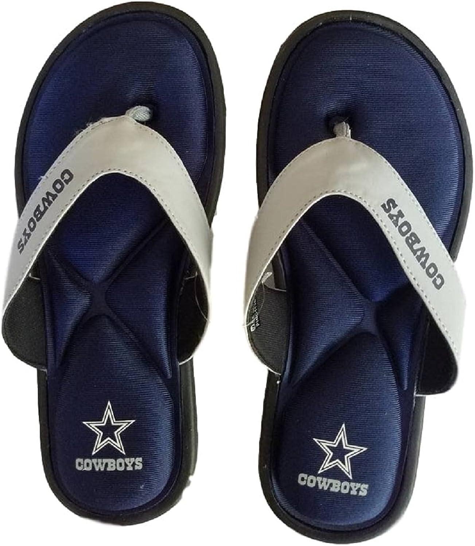 Forever Collectables Dallas Cowboys Womens Foam Comfort Flip Flops Slides