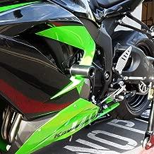 Shogun Kawasaki ZX6R ZX6RR ZX636 2013 2014 2015 2016 2017 2018 Black No Cut Frame Sliders - 750-4449 - MADE IN THE USA
