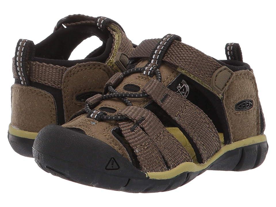 Keen Kids Seacamp II CNX (Toddler) (Dark Olive/Black) Boys Shoes