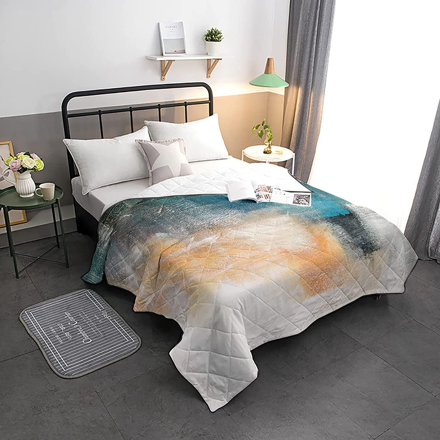 Down Max 51% OFF Alternative Comforter Vintage Shabby Chic Texture Reversibl Tampa Mall