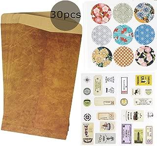 Dawnzen 30 Pack Vintage Envelopes Set with Seal Stickers for Letter Writing and Invitation Envelopes, Gift Card Envelopes
