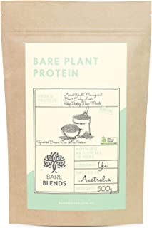 Bare Blends - Bare Plant Protein 500g | Rice & Pea Vegan Protein Powder | Certified Organic | Unflavoured | Gluten Free