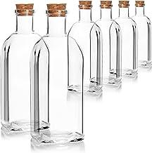 COM-FOUR® 6x Bouteille en verre 500 ml avec bouchon - bouteille en verre vide avec bouchon - bouteille en verre