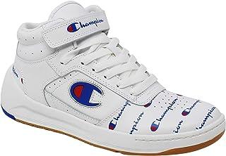 e0b911826 Champion Women s Super C Court Leather Allover Print Mid Top Sneaker