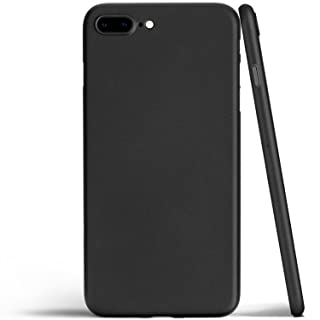 totallee iPhone 8 Plus Case, Thinnest Cover Premium Ultra Thin Light Slim Minimal Anti-Scratch Protective - for Apple iPhone 8 Plus The Scarf (Matte Black)