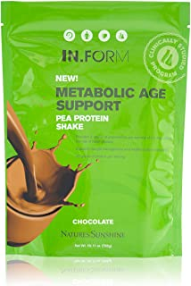 Nature's Sunshine in.Form Pea Protein Shake, Chocolate, 765 Grams | Vegan Protein Powder with Natural Pea Protein and Other Nourishing Whole Foods and Nutrients