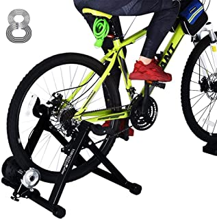 """HEALTH LINE PRODUCT Bike Trainer Stand for 26""""-29"""" Mountain & 700C Road Bikes, Indoor Stationary Bicycle Exercise w Quiet ..."""