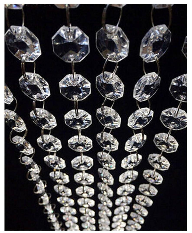 98.4FT Magnificent Crystal Acrylic Gems Bead Strands, Manzanita Crystals, Tree Garlands, Christmas Wedding Party Celebration Decoration (99FT(30M))