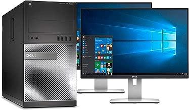 Dell Optiplex 9020 Mini Tower Desktop PC, Intel Core i7-4770, 16GB Ram, 2TB SATA Drive + 256GB SSD WiFi, DVD-RW, Dual 22