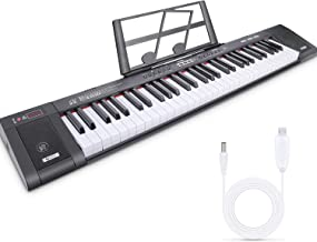 Tencoz 61-Key Electric Keyboard Piano with Full-Size, Built-