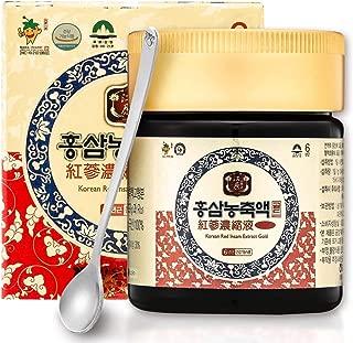 [Gangwoninsam] Korean Red Ginseng Extract Gold – 6 Year Old Red Ginseng Extract 100%, Korean Health Food, 4.23 fl. oz (120g)