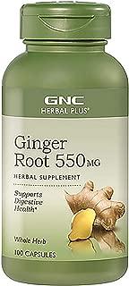 GNC Herbal Plus Ginger Root 550 mg